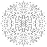 Mandala ethnique d'élément Page circulaire de coloration de modèle pour Photographie stock libre de droits
