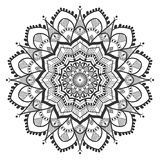 Mandala ethnique floral simple Images libres de droits