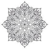 Mandala ethnique rond Images libres de droits
