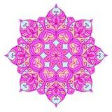 Mandala ethnique rond avec l'ornement floral Photos stock