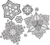 mandala Ethnische dekorative Elemente Hand gezeichnet Lizenzfreie Stockfotografie