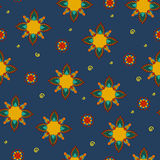 mandala Ethnische dekorative Elemente Hand gezeichnet Lizenzfreies Stockbild