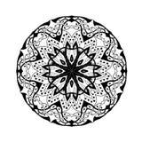mandala Ethnisches abstraktes mit Blumendekoratives lizenzfreie abbildung