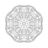 mandala Ethnisches abstraktes mit Blumendekoratives vektor abbildung