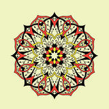 mandala Ethnisches abstraktes mit Blumendekoratives stock abbildung