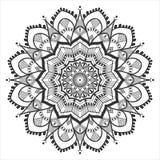 Mandala etnica floreale semplice Immagini Stock Libere da Diritti