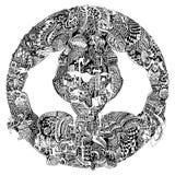 Mandala etnica tribale astratta Fotografie Stock