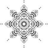 Mandala etniczny indyjski ilustracyjny projekt ilustracja wektor