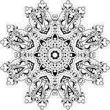 Mandala etniczny indyjski ilustracyjny projekt Zdjęcia Stock