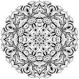 Mandala etniczny indyjski ilustracyjny projekt royalty ilustracja