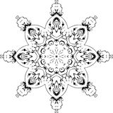 Mandala etniczny indyjski ilustracyjny projekt Obrazy Stock