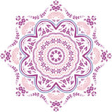 Mandala etniczny indyjski ilustracyjny projekt Obraz Stock