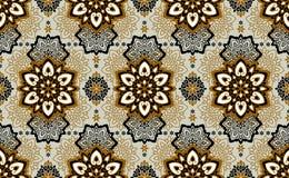 mandala Etnisch motieven vector naadloos patroon Royalty-vrije Stock Foto's
