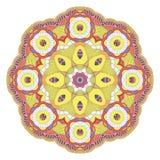 mandala Etnische decoratieve elementen Uitstekend Rond Ornamentklopje Royalty-vrije Stock Fotografie