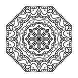 mandala Etniska dekorativa beståndsdelar bakgrund tecknad hand orientaliskt Arkivbild