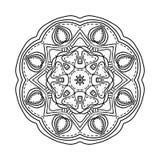 mandala Etniska dekorativa beståndsdelar bakgrund tecknad hand orientaliskt Arkivfoton