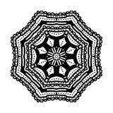 mandala Etniska dekorativa beståndsdelar bakgrund tecknad hand orientaliskt Royaltyfri Bild