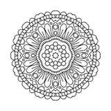 mandala Etniska dekorativa beståndsdelar bakgrund tecknad hand orientaliskt Arkivbilder