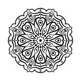 mandala Etniska dekorativa beståndsdelar bakgrund tecknad hand orientaliskt Royaltyfri Foto