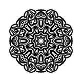 mandala Etniska dekorativa beståndsdelar bakgrund tecknad hand Stor blommaknopp Royaltyfria Bilder