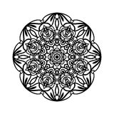 mandala Etniska dekorativa beståndsdelar bakgrund tecknad hand Stor blommaknopp Royaltyfria Foton
