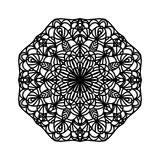 mandala Etniska dekorativa beståndsdelar bakgrund tecknad hand Stor blommaknopp Royaltyfri Bild