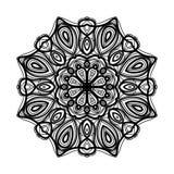 mandala Etniska dekorativa beståndsdelar bakgrund tecknad hand Stor blommaknopp Arkivfoton