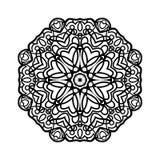mandala Etniska dekorativa beståndsdelar bakgrund tecknad hand Stor blommaknopp Royaltyfri Fotografi