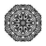 mandala Etniska dekorativa beståndsdelar bakgrund tecknad hand Stor blommaknopp Arkivfoto