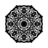mandala Etniska dekorativa beståndsdelar bakgrund tecknad hand Stor blommaknopp Royaltyfri Foto