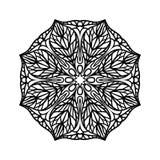 mandala Etniska dekorativa beståndsdelar bakgrund tecknad hand Stor blommaknopp royaltyfri illustrationer