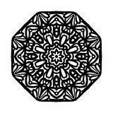 mandala Etniska dekorativa beståndsdelar bakgrund tecknad hand Stor blommaknopp Fotografering för Bildbyråer
