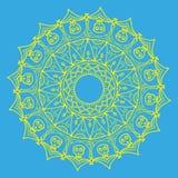 mandala Etniska dekorativa beståndsdelar tecknad handvektor Arkivfoto