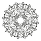 mandala Etniska dekorativa beståndsdelar tecknad handvektor Arkivbild