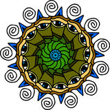 Mandala eyes on white background Royalty Free Stock Photos