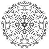 mandala Färga sidan också vektor för coreldrawillustration stock illustrationer