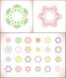Mandala färgad uppsättning av vektorillustrationen Royaltyfria Bilder