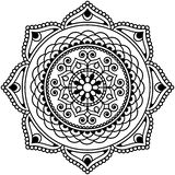 Mandala för blomma för beståndsdel för Mehndi henna indisk för tatoo eller kort Royaltyfri Fotografi