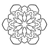 Mandala för färgbok Monokrom illustration Upprepa som är passande Royaltyfria Bilder