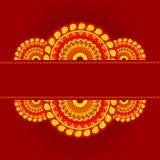 mandala för kortinbjudanförsäljning Royaltyfri Fotografi