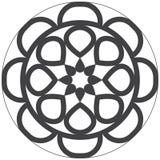Mandala för lätt och enkel design för ungar och vuxen färgläggning Arkivfoto
