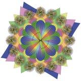 Mandala för vektorfärgmonokrom Arkivbilder