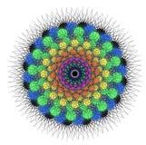 Mandala för vektorfärgmonokrom Arkivfoton