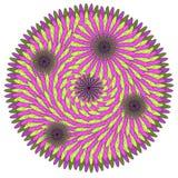 Mandala för vektorfärgmonokrom Royaltyfri Bild