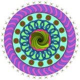 Mandala för vektorfärgmonokrom Arkivbild