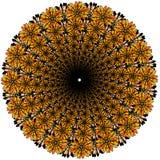 Mandala för vektorfärgmonokrom Royaltyfri Foto
