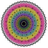 Mandala för vektorfärgmonokrom Royaltyfri Fotografi