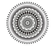 Mandala für Hennastrauch, Mehndi, Tätowierung stock abbildung