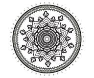 Mandala für Hennastrauch, Mehndi, Tätowierung, Dekoration lizenzfreie abbildung