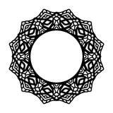 Mandala f?r Hennastrauch, Mehndi, T?towierung, Dekoration Dekorative Rahmenverzierung in der ethnischen orientalischen Art Malbuc vektor abbildung